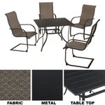 Outdoor Expressions Springfield 5-Piece Dining Set