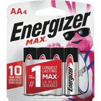 Energizer Max AA Alkaline Battery, E91BP-4