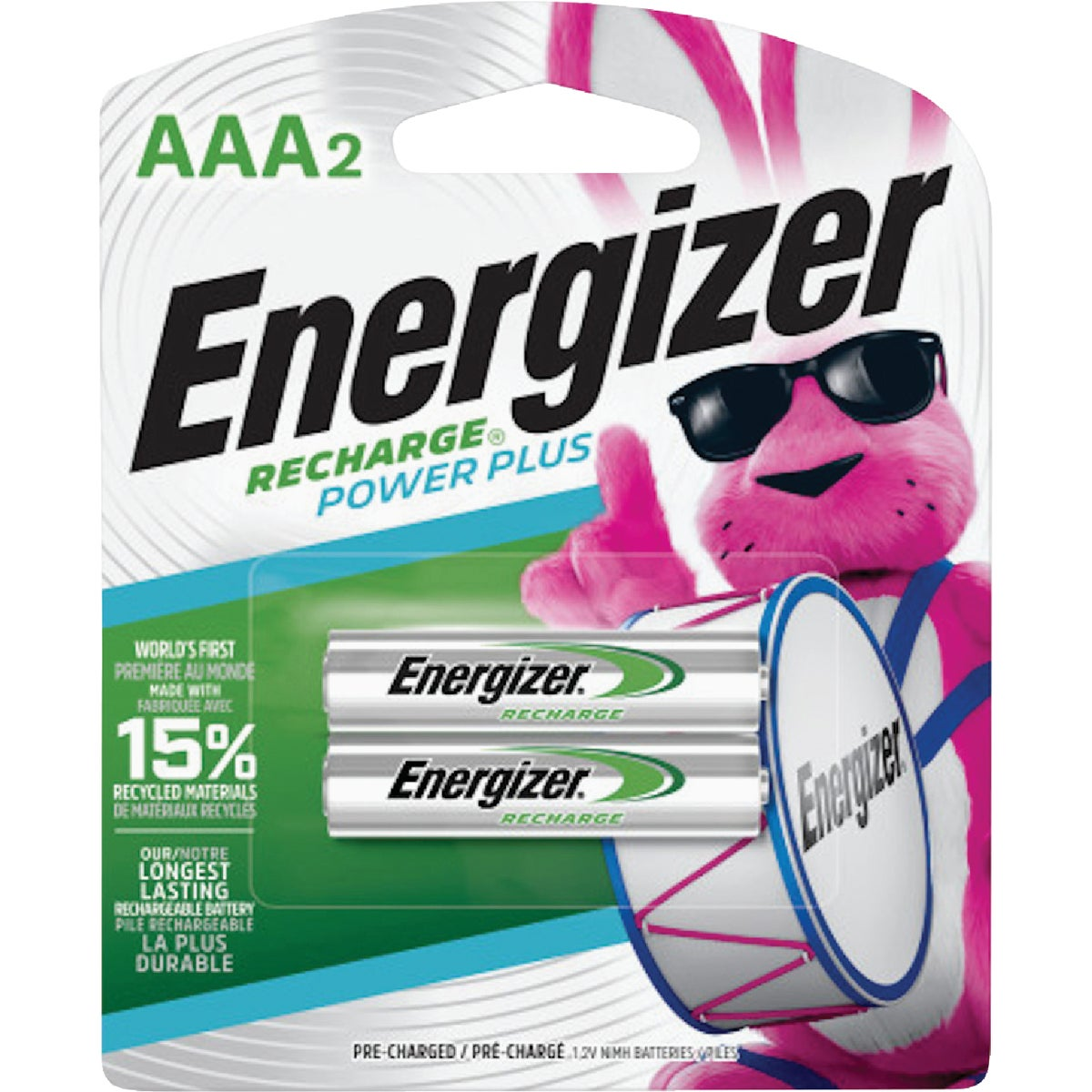 2CD AAA RECHARGE BATTERY - NH12BP-2 by Energizer