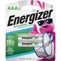 Energizer Recharge AAA Rechargeable Battery, NH12BP-2