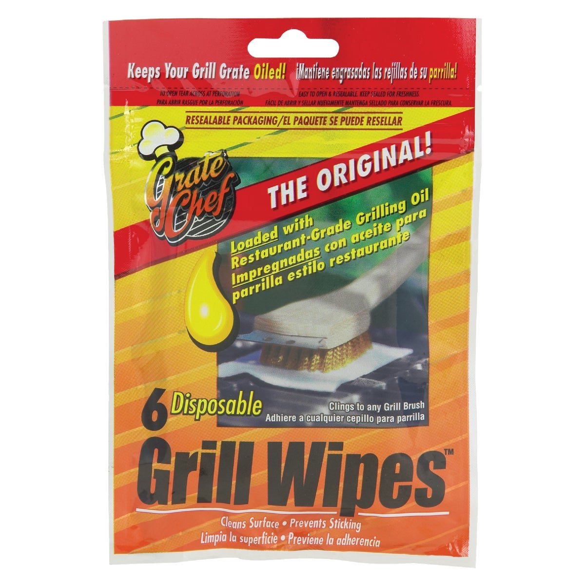 6PK GRILL WIPES
