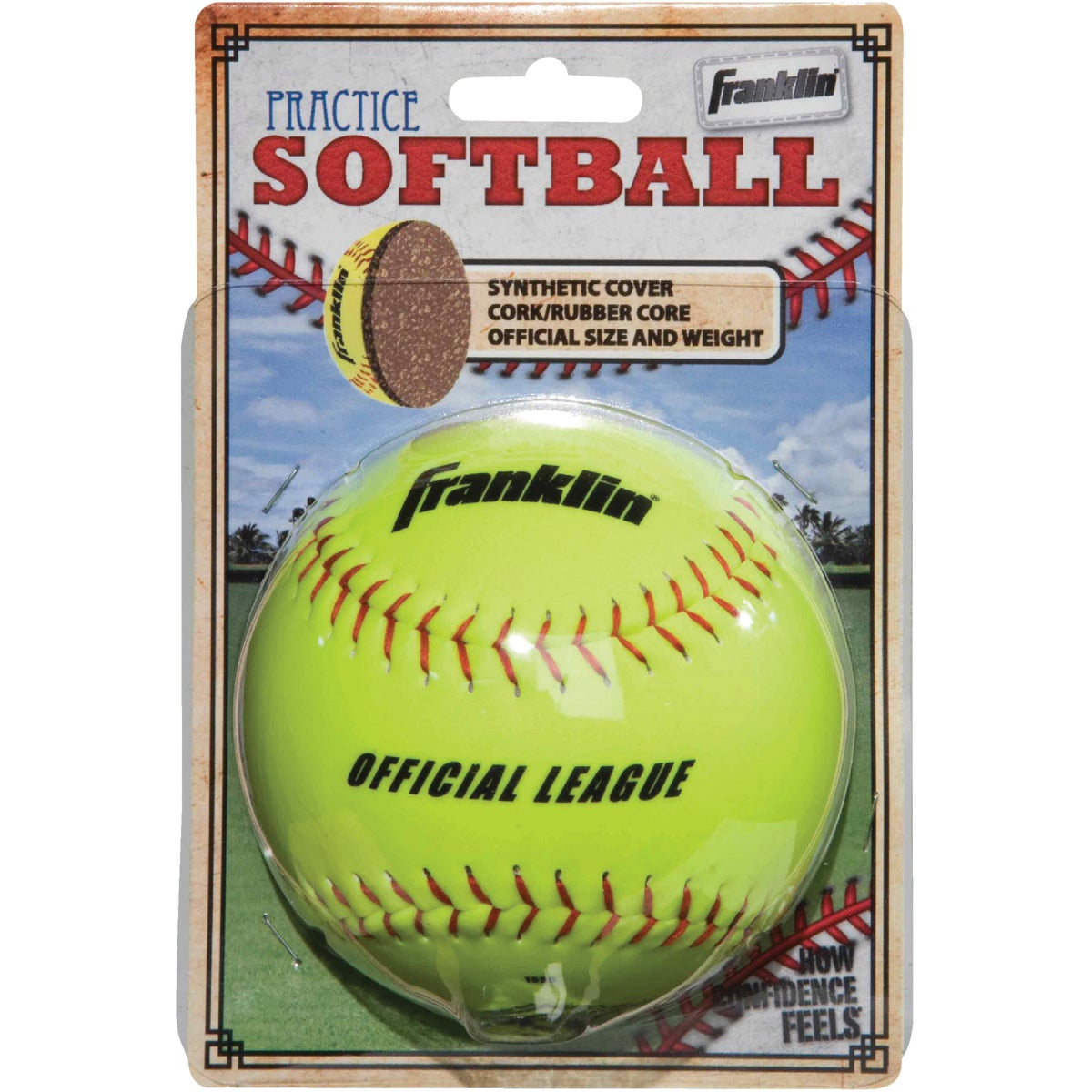 SYNTHETIC SOFTBALL - 10981 by Franklin Sports