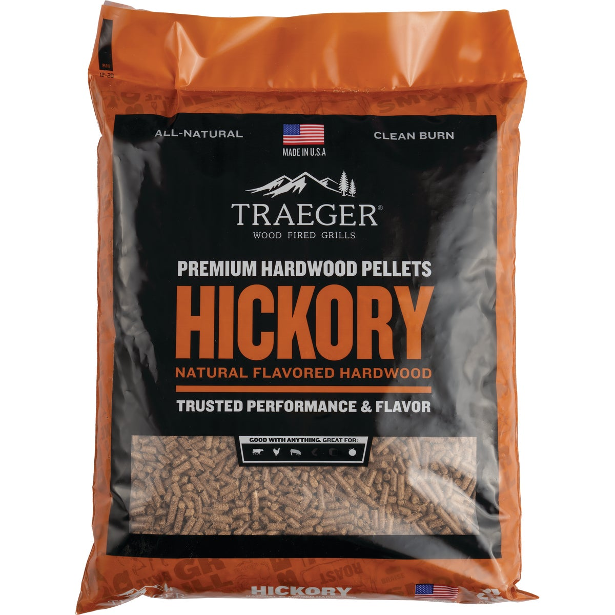 20LB HICKORY PELLETS - PEL304 by Traeger Industries