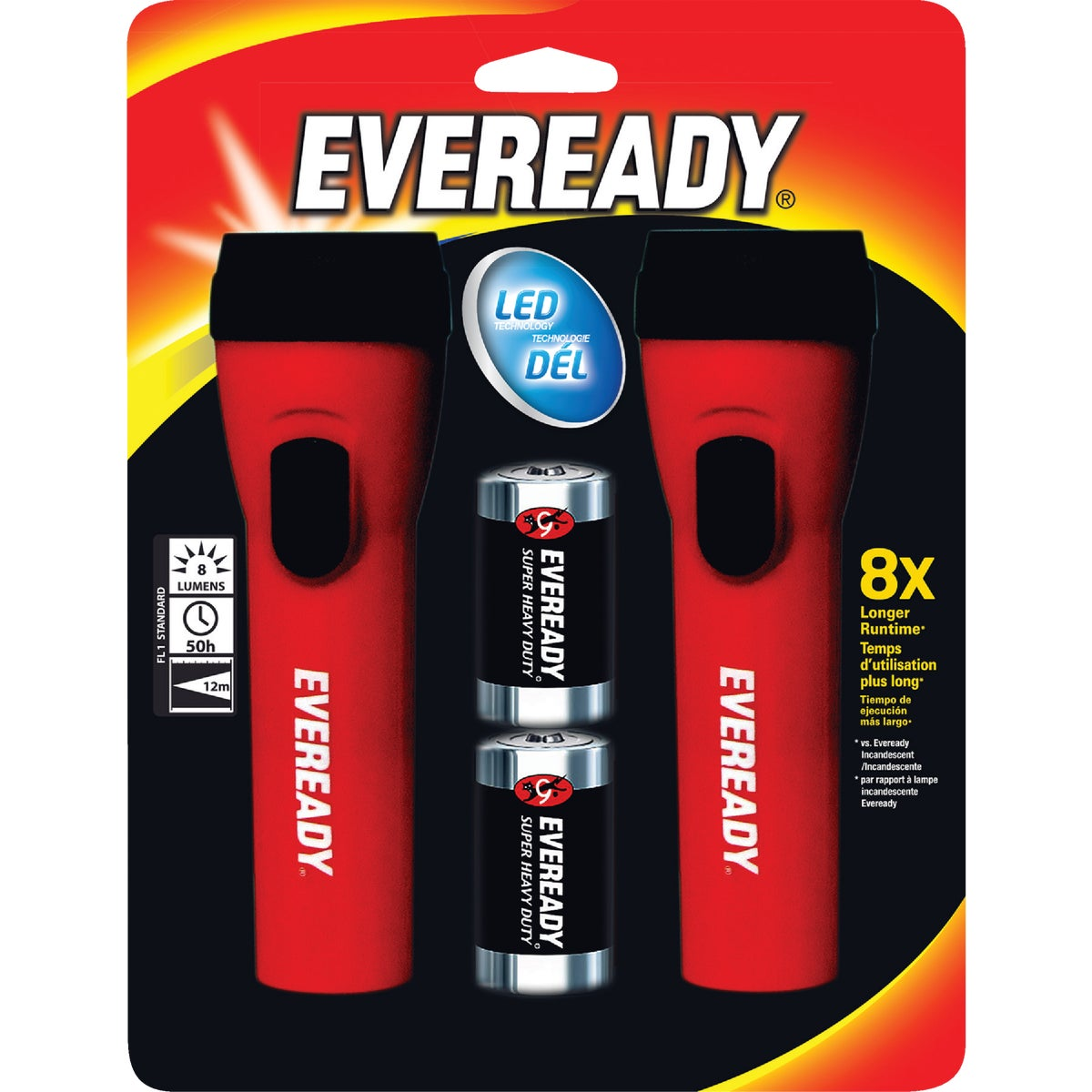 LED W/BATTERY FLASHLIGHT
