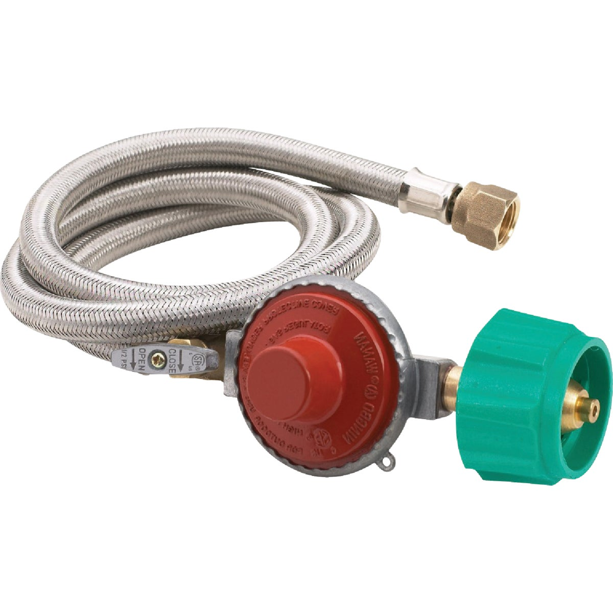"48"" 20PSI SS HOSE W/REG - M5HPR-1 by Barbour Intl"