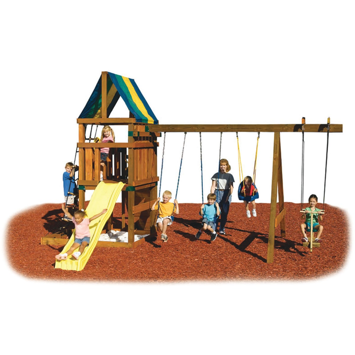 ALPINE CUSTOM SWING SET - NE5007 by Swing N Slide Corp