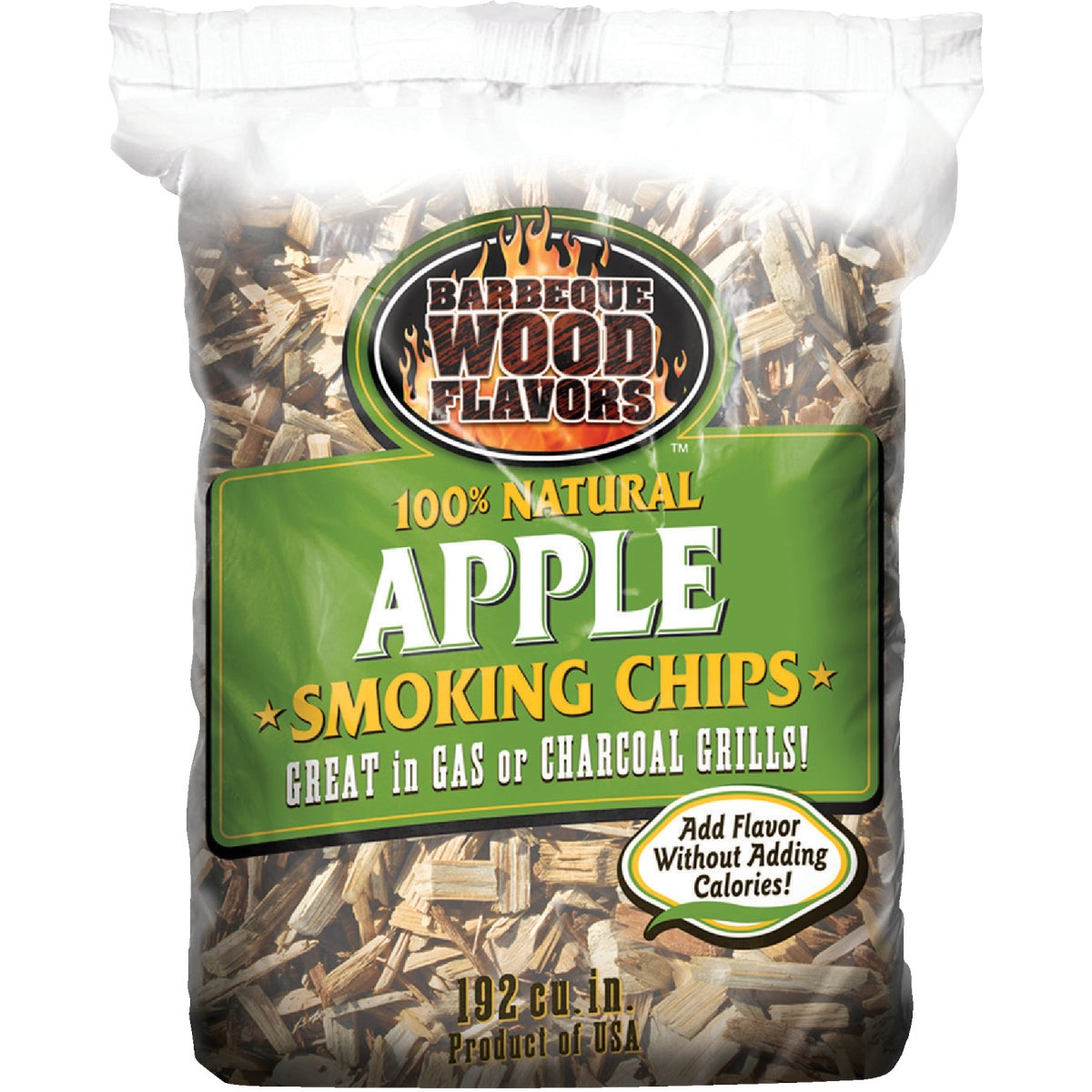 2.25LB APPLE WOOD CHIPS - 90302 by Barbeque Wood Flavor