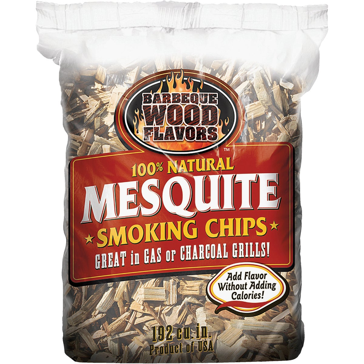 2.25LB MESQ WOOD CHIPS - 20301 by Barbeque Wood Flavor