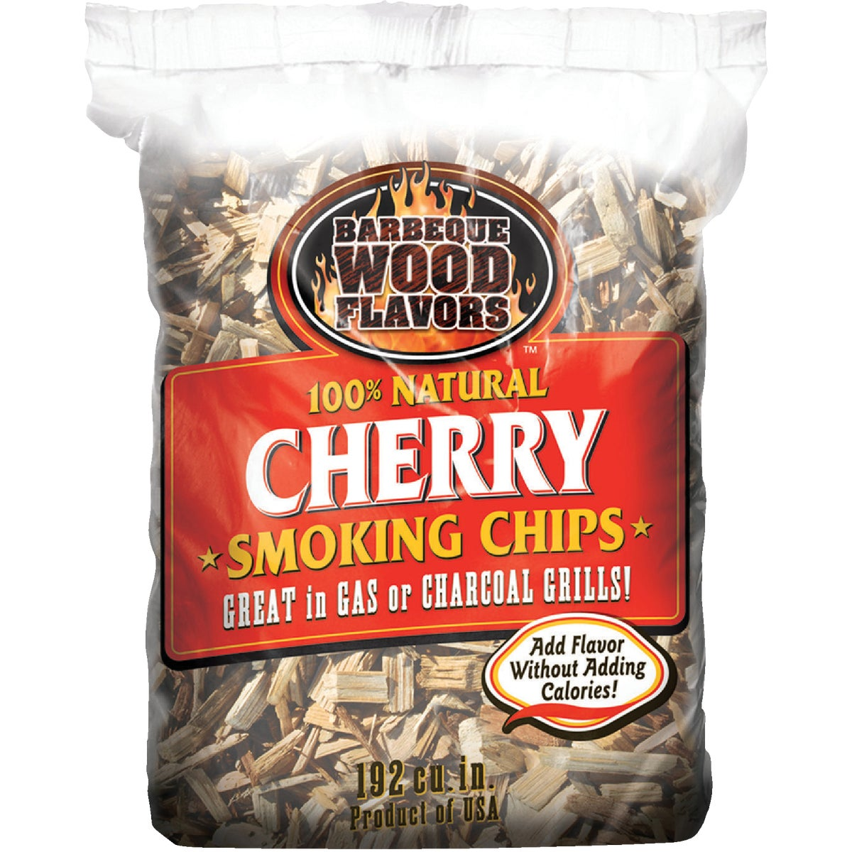 2.25LB CHERRY WOOD CHIPS - 60009 by Barbeque Wood Flavor