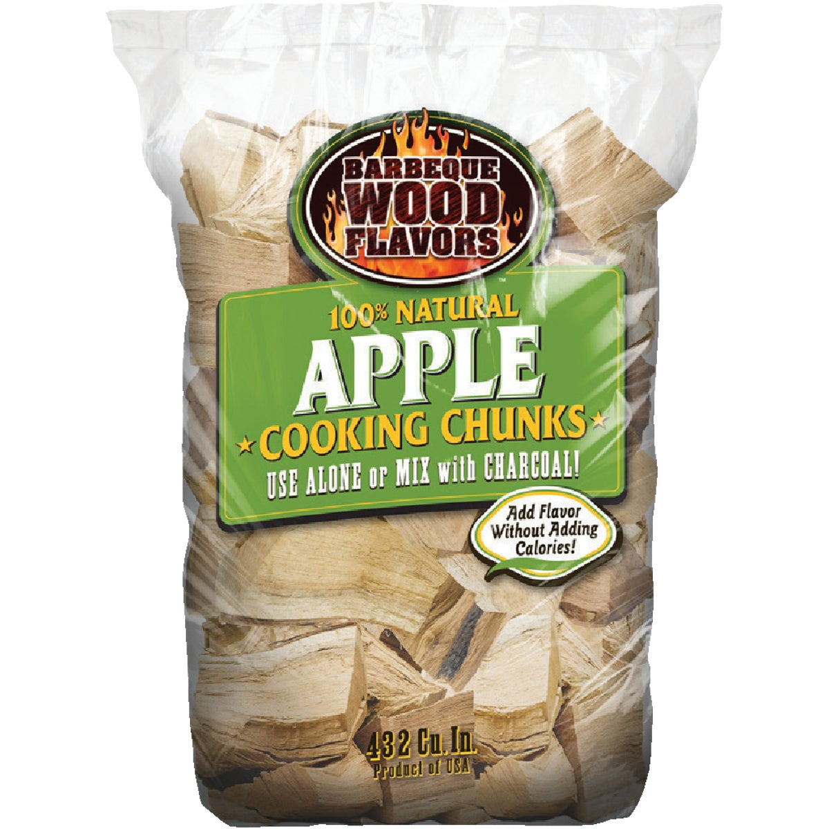10LB APPLE WOOD CHUNKS - 60026 by Barbeque Wood Flavor