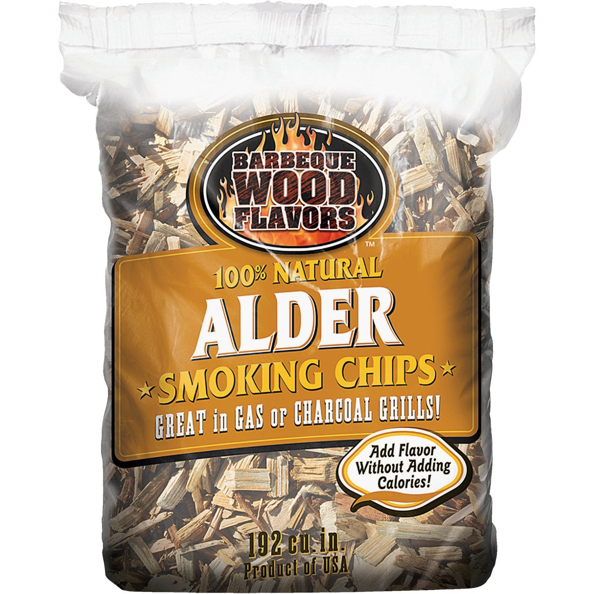 2.25LB ALDER WOOD CHIPS - 90305 by Barbeque Wood Flavor