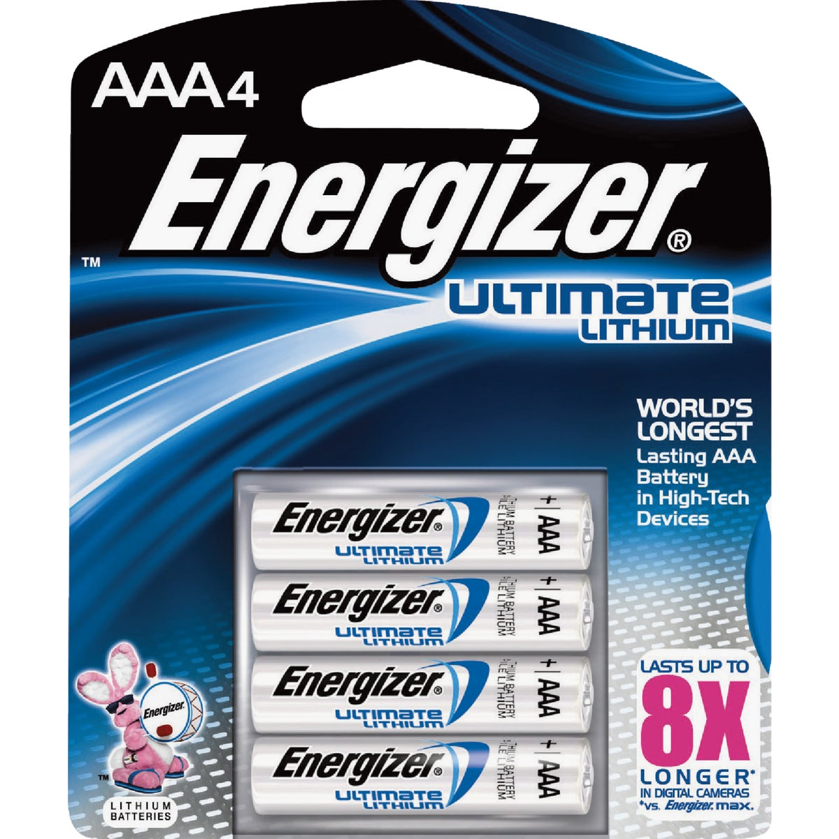 4PK AAA ULT LITHIUM BTRY - L92BP-4 by Energizer