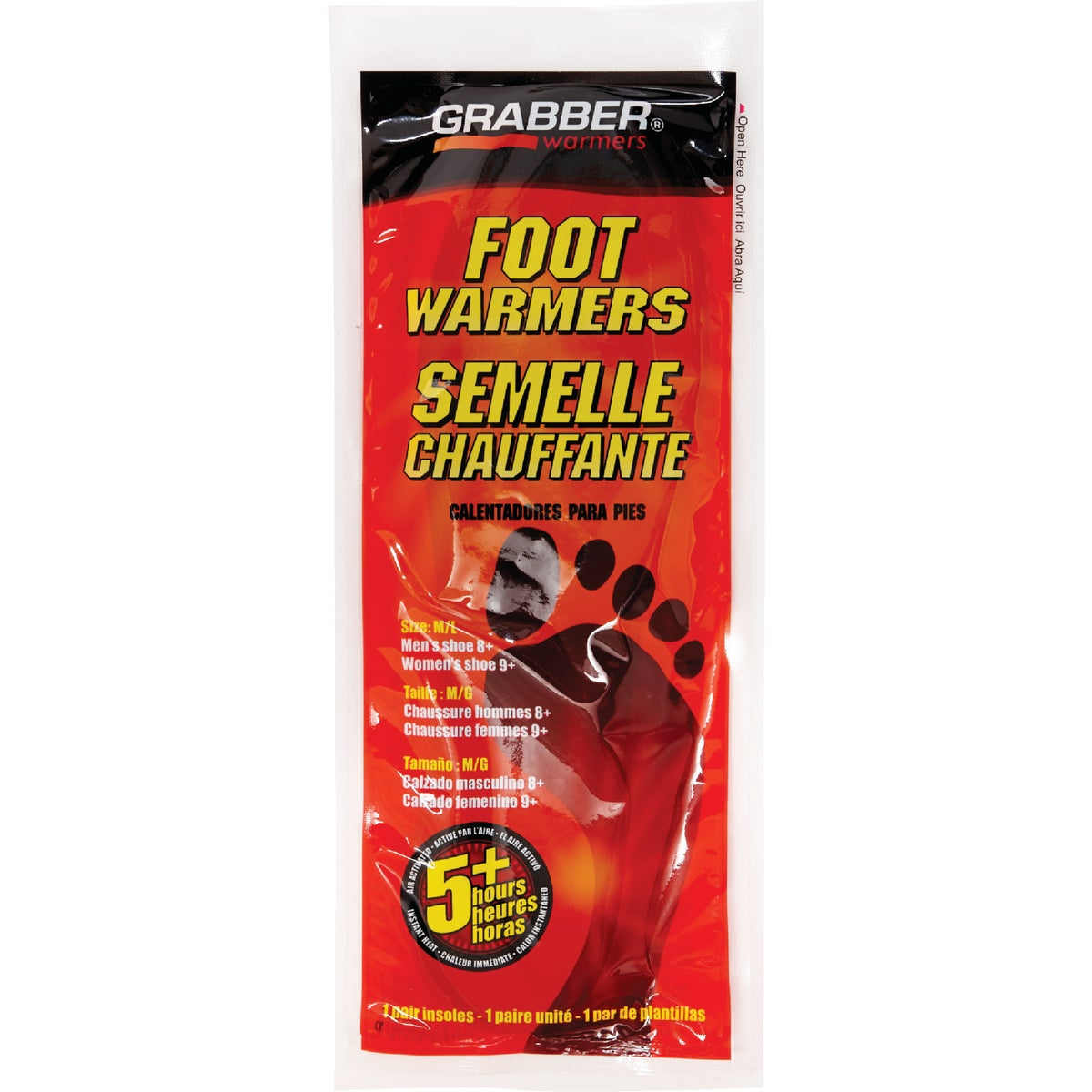 M/L FOOT INSOLES WARMER - CSFWML12 by Grabber Performance