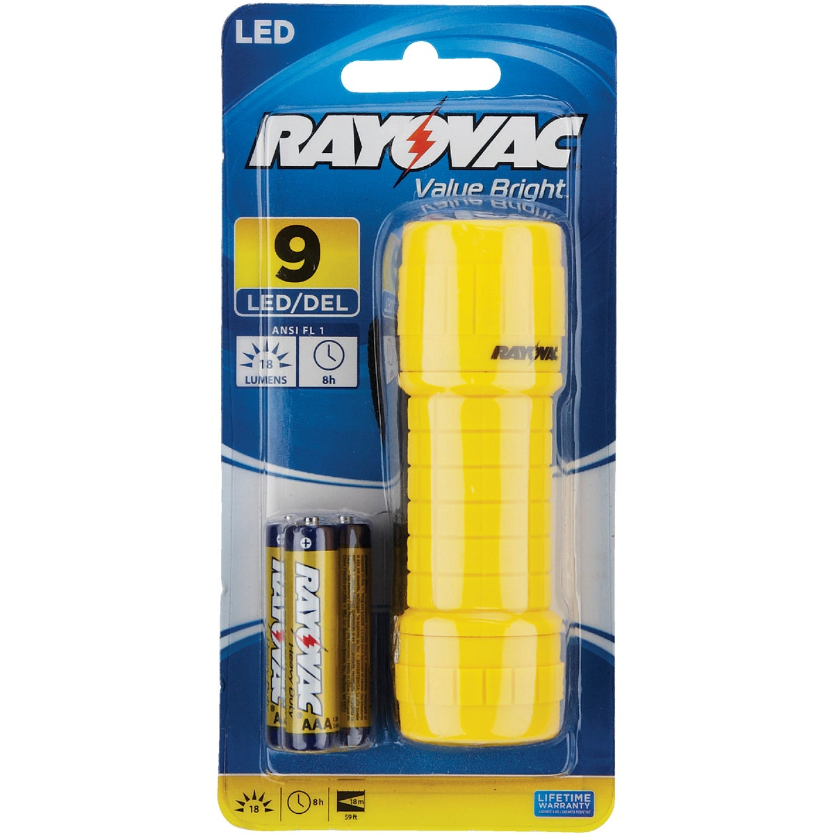 9 LED MINI FLASHLIGHT - BRS9LED-B by Ray O Vac