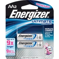 Energizer AA Ultimate Lithium Battery, L91BP-2