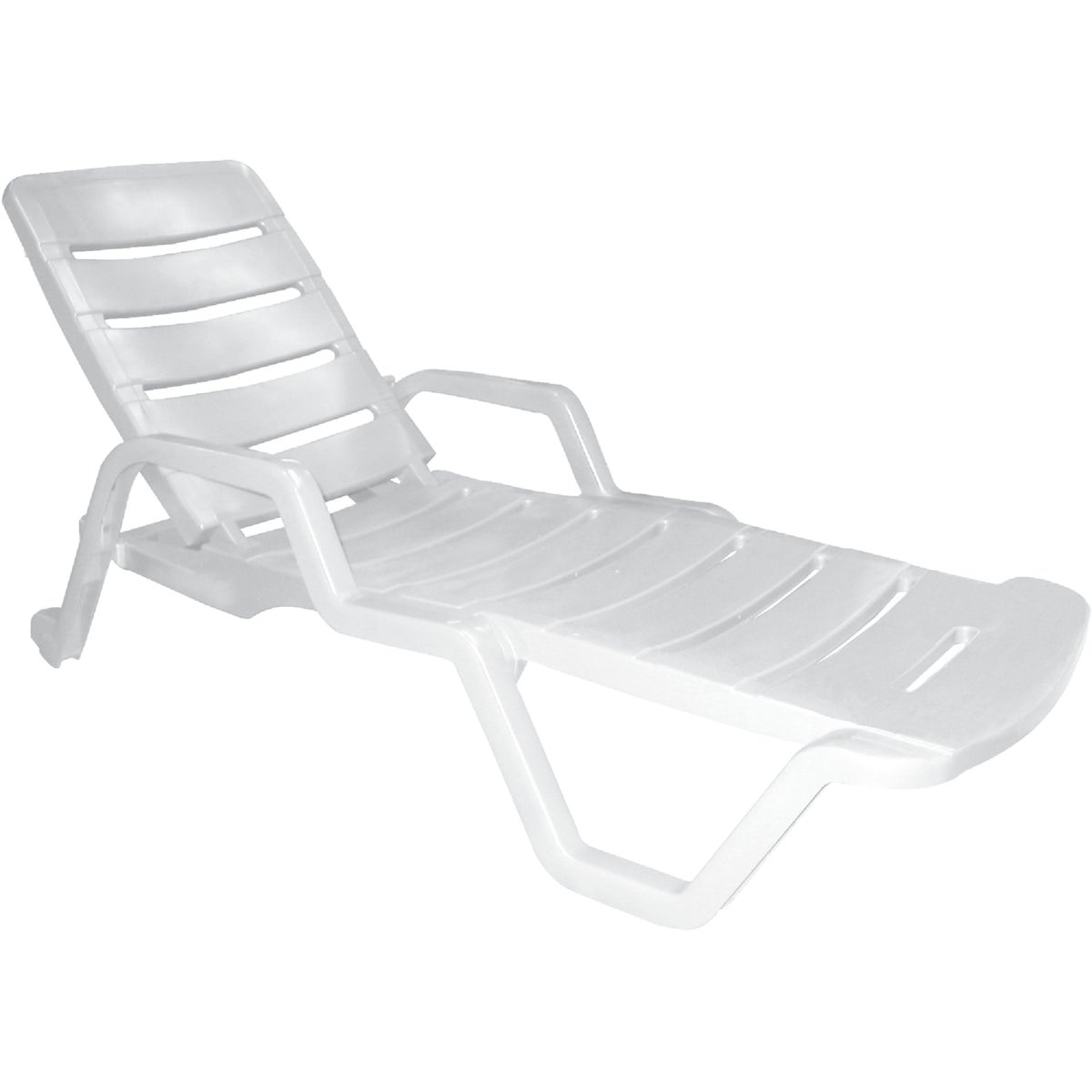 WHITE CHAISE LOUNGE - 8010-48-3770 by Adams Mfg Patio Furn