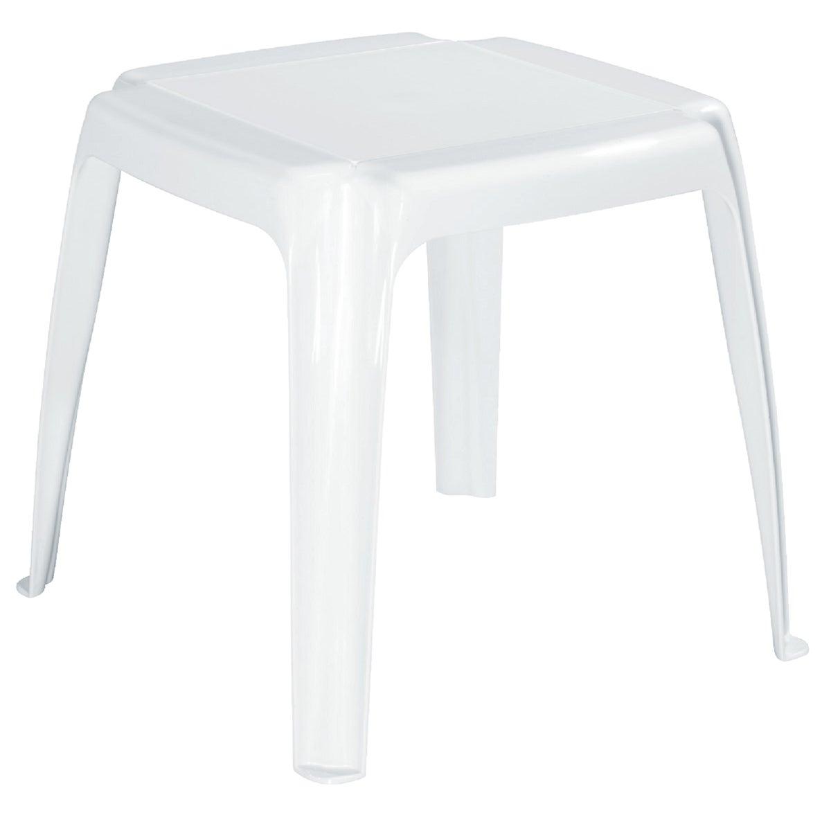 WHT SQ SIDE TABLE - 8115-48-3700 by Adams Mfg Patio Furn