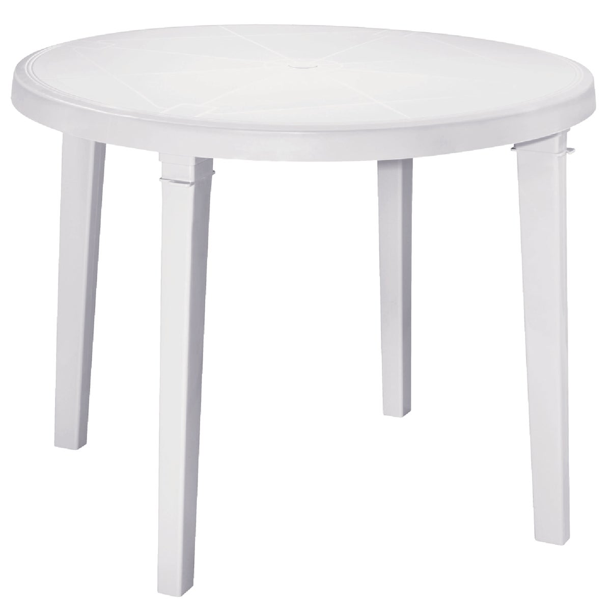 "WHT 38"" RND TABLE - 8150-48-3770 by Adams Mfg Patio Furn"