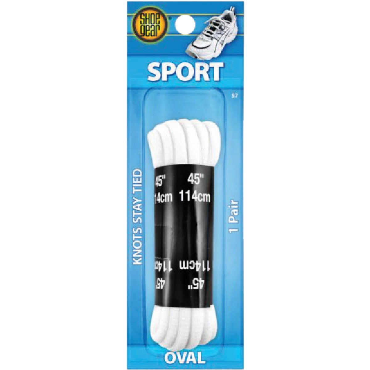 "45"" WHITE ATHLETIC LACES"