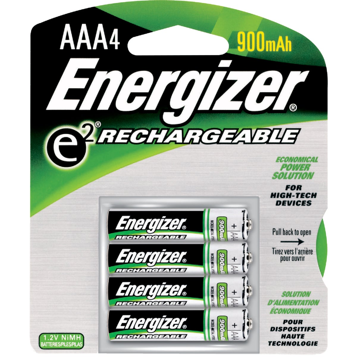 4PK AAA RECHARGE BATTERY - NH12BP-4 by Energizer