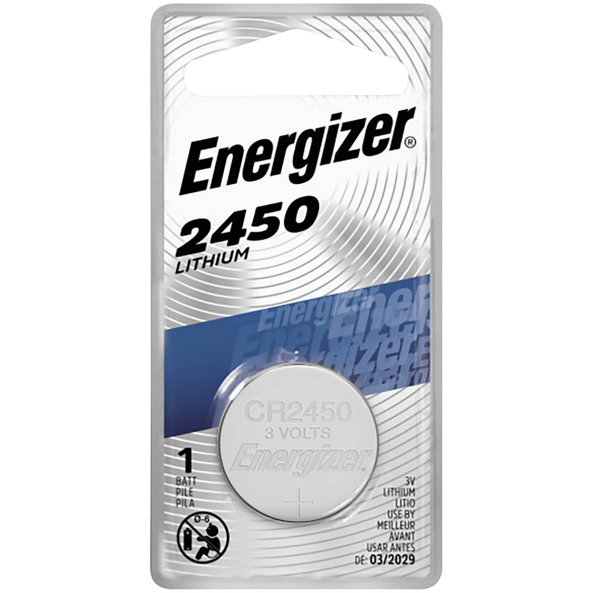 3V LITHIUM BATTERY - ECR2450BP by Energizer