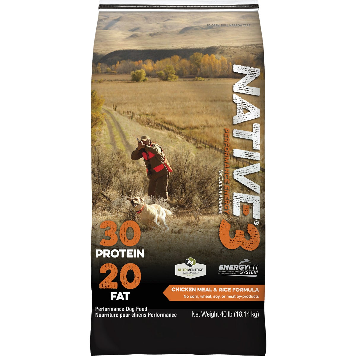 40LB NATIVE LEVEL 3 FOOD - 7272 by Kent Feeds Inc