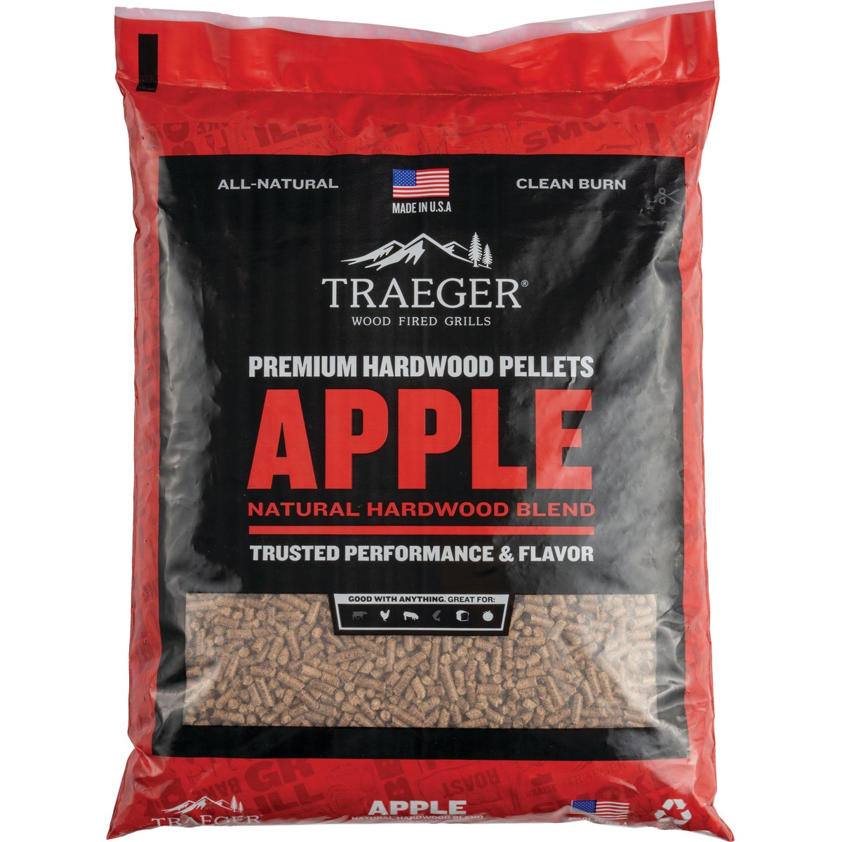 20LB APPLE GRILL PELLETS - PEL313 by Traeger Industries