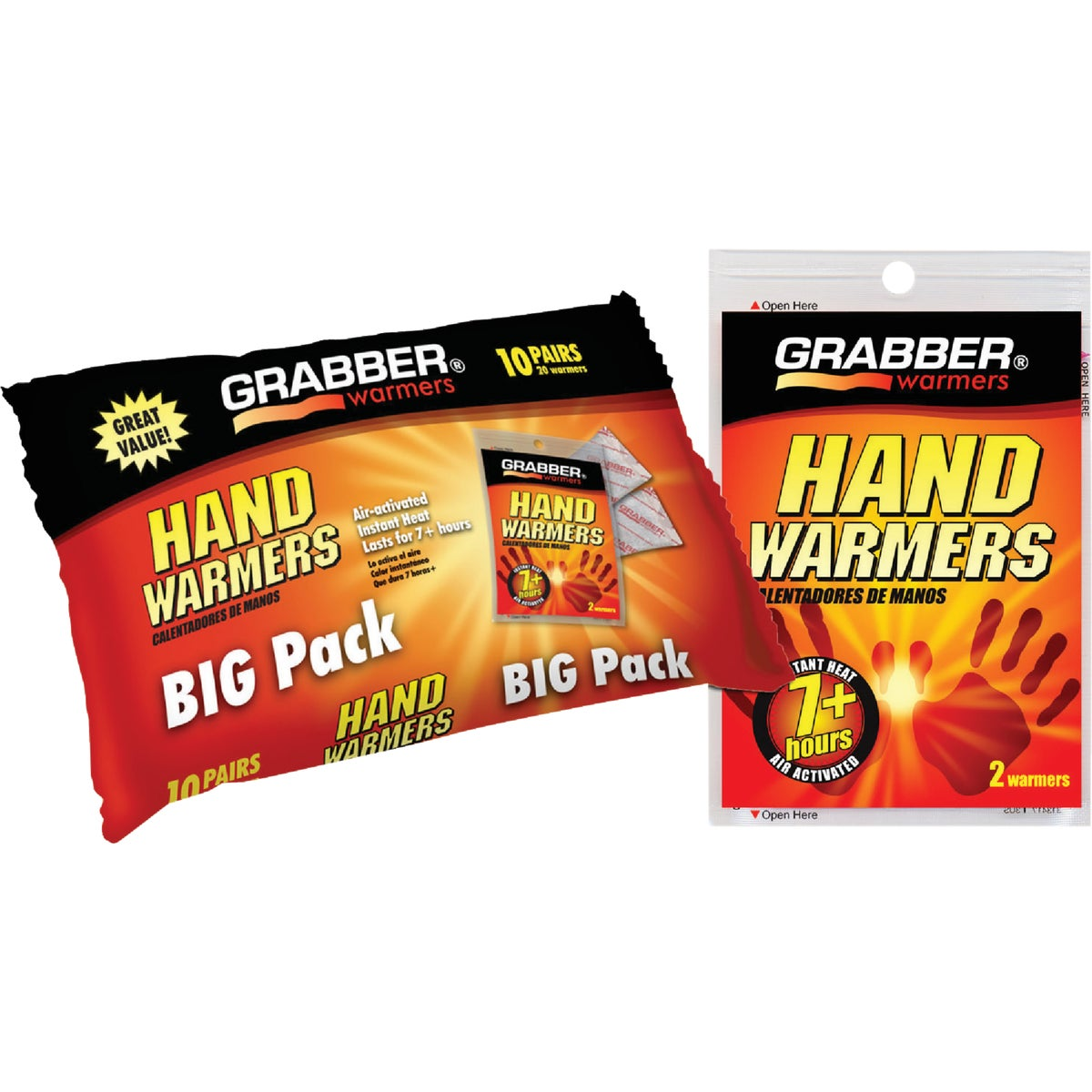 10PK HAND WARMERS - HWPP10 by Grabber Performance