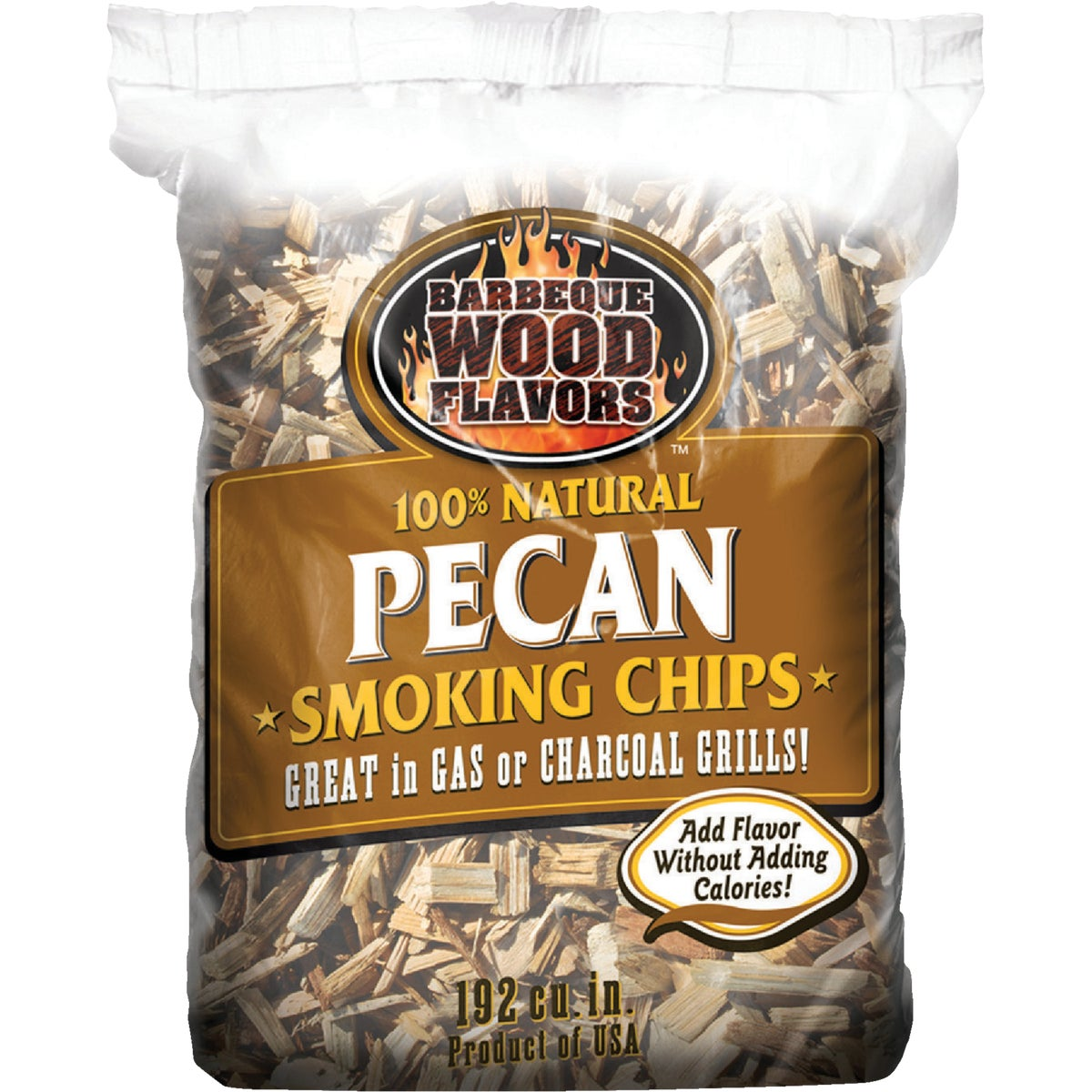 TEXAS SMOKE PECAN CHIPS - 60008 by Barbeque Wood Flavor