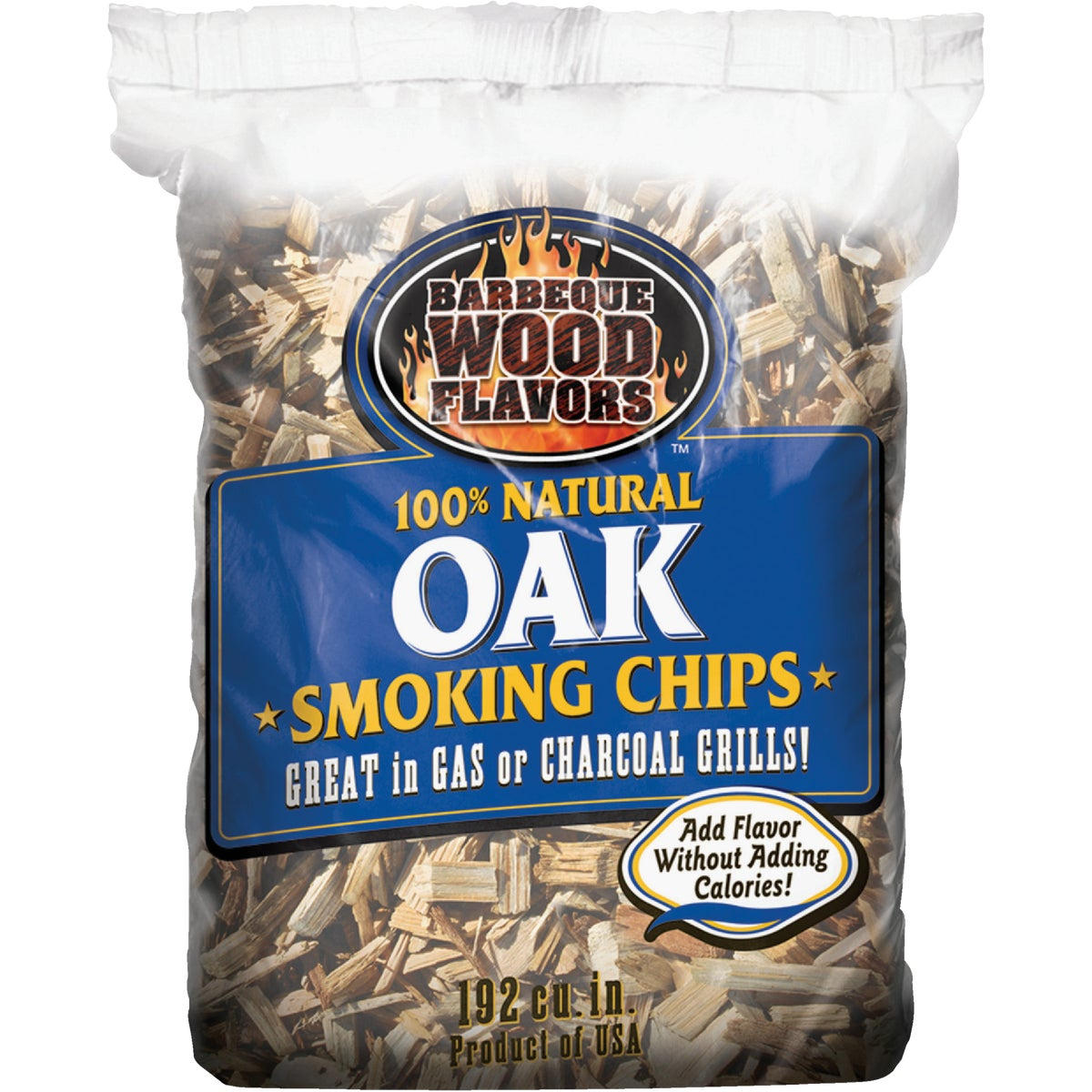 2.25LB OAK CHIPS - 90306 by Barbeque Wood Flavor