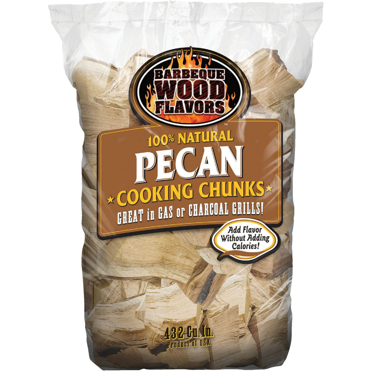 6 LB PECAN WOOD CHUNKS - 10179 by Barbeque Wood Flavor