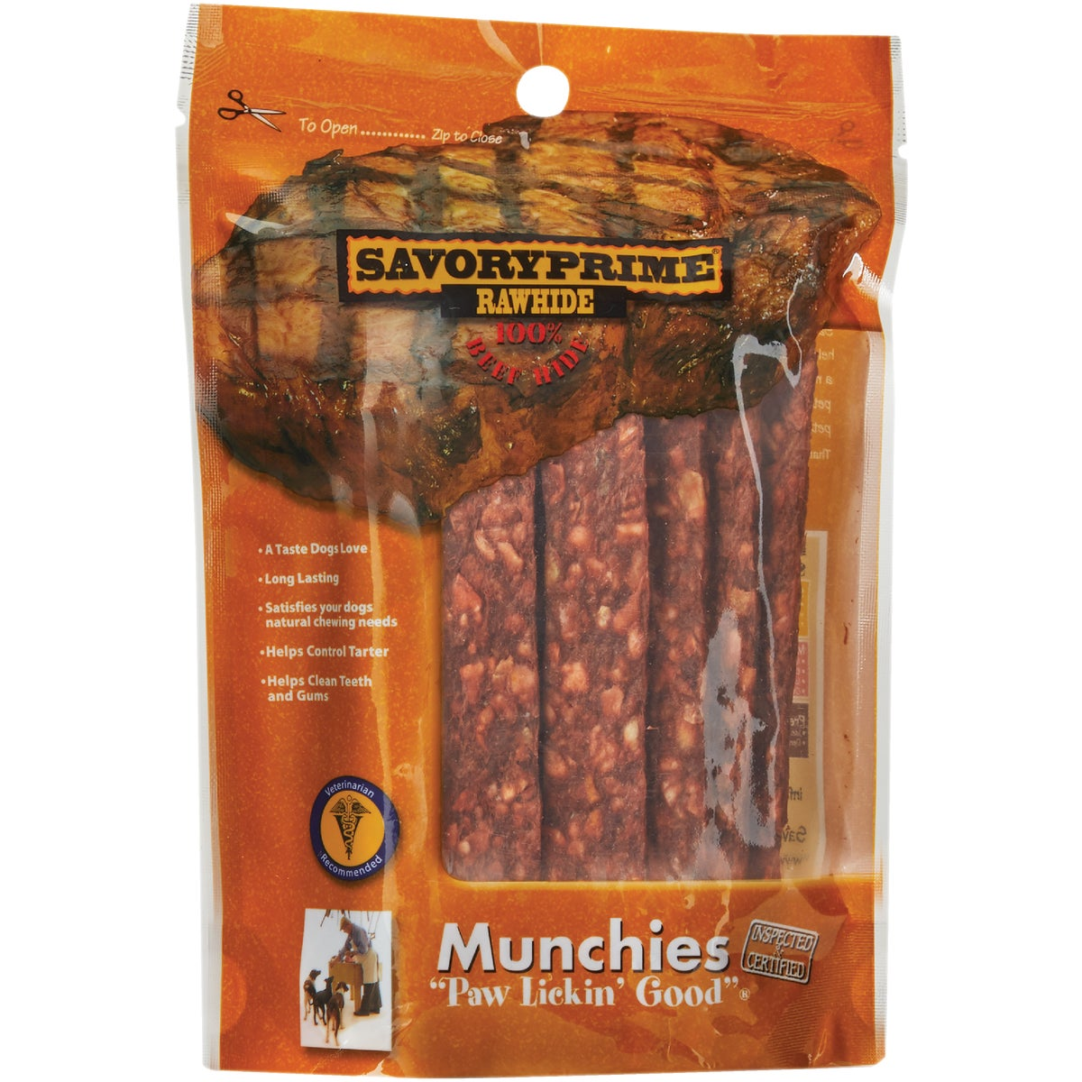12PK BEEF DOG SNACKS - 00005 by Savory Prime