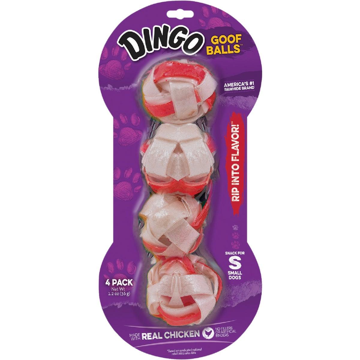 4PK SML DINGO GOOF BALLS - 30040 by United Pet Group
