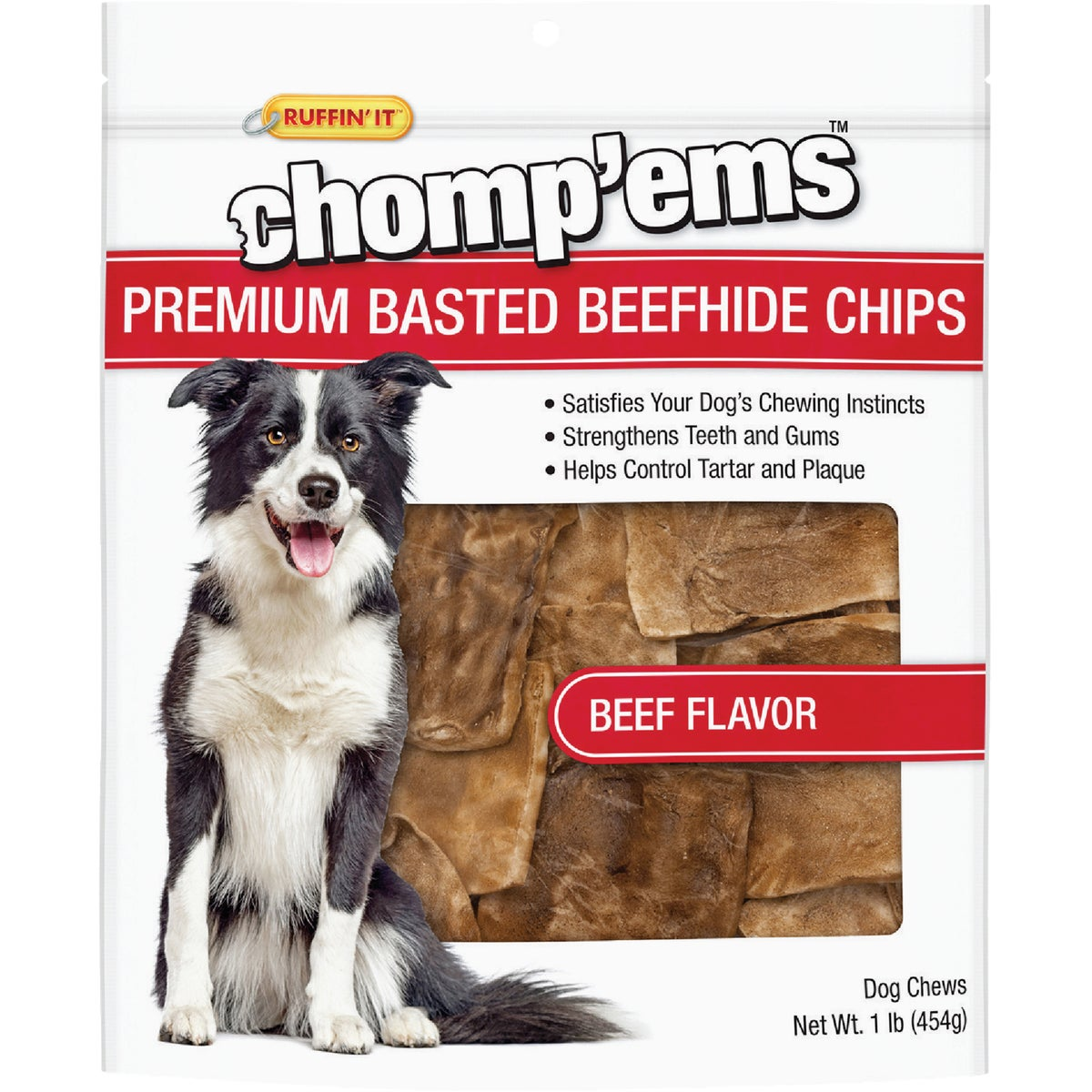 1LB BEEF CHIPS - 27143 by Westminster Pet