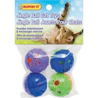 Westminster Pet 4PK RAINBW BALLS CAT TOY 32055