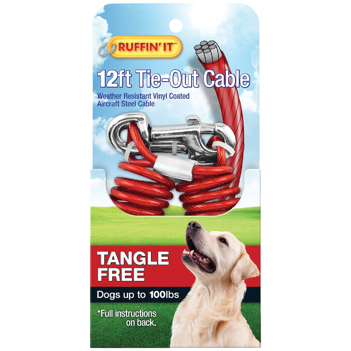 12'TNGL FRE TIEOUT CABLE - 29712 by Westminster Pet