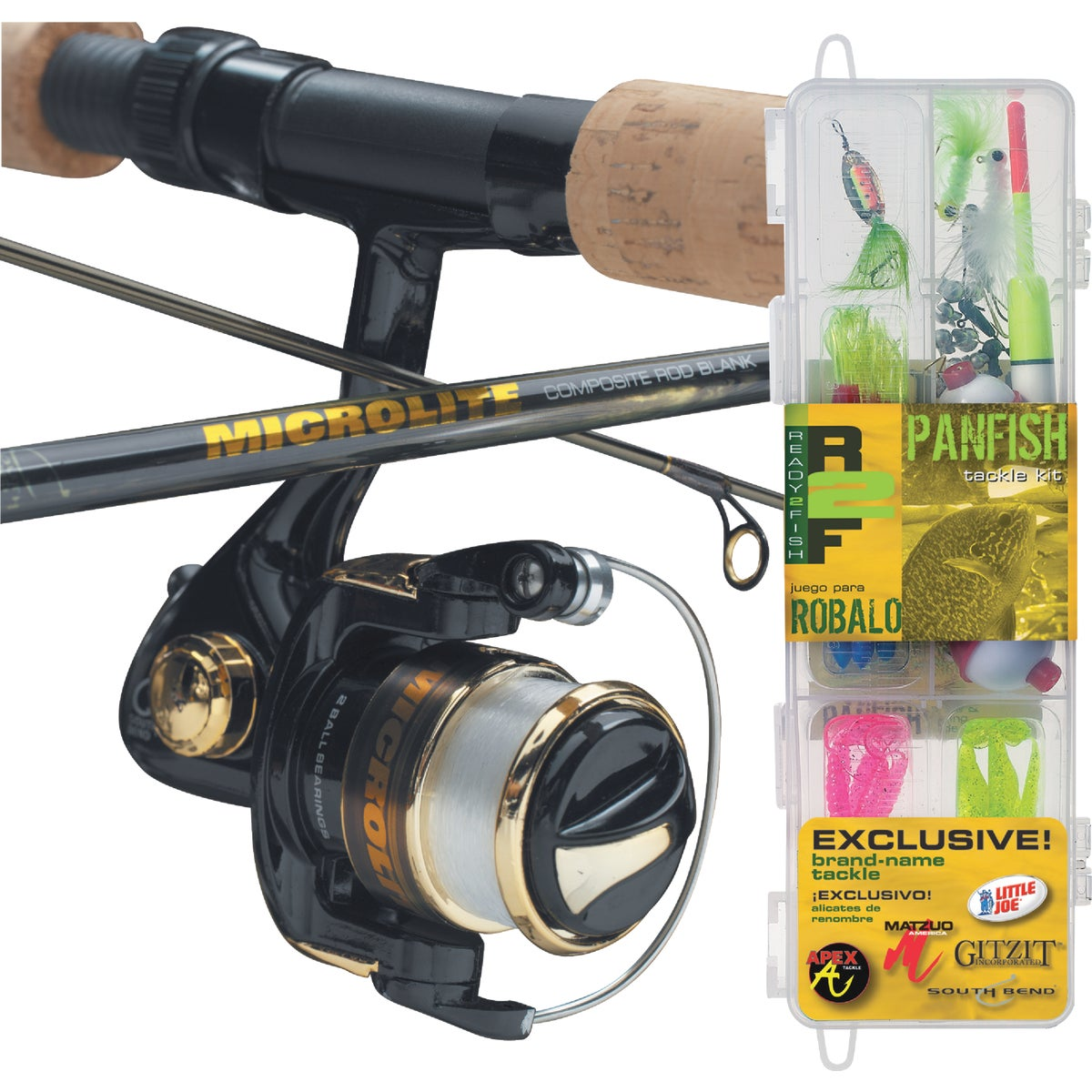 R2F PANFISH SPIN COMBO - R2F2-PF/S by South Bend Sptg Good