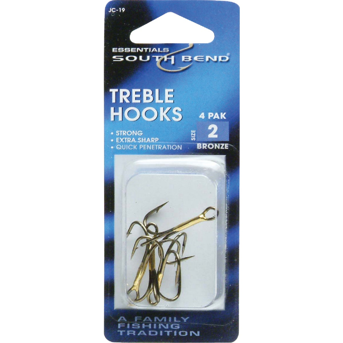 SZ 2 TREBLE HOOK - JC19 by South Bend Sptg Good