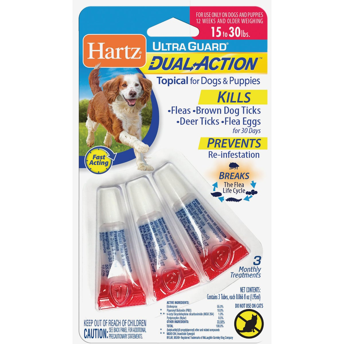 16-30LB HUG F&T DROPS - 96217 by Hartz Mountain Corp