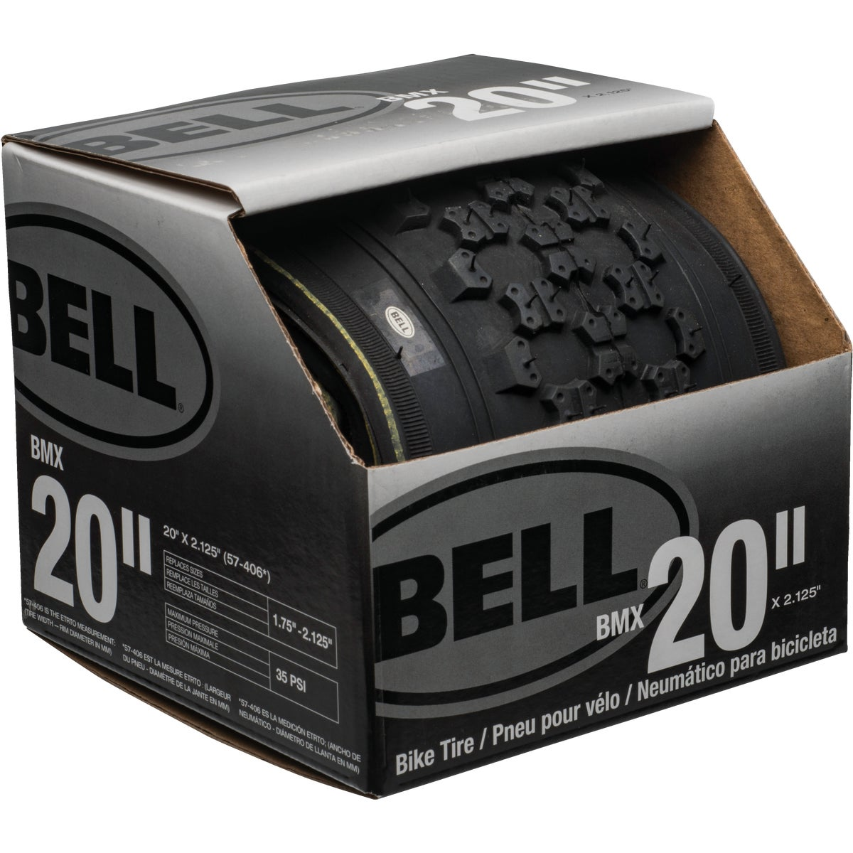"20"" BLK BMX TIRE - 7014689 by Bell Sports"