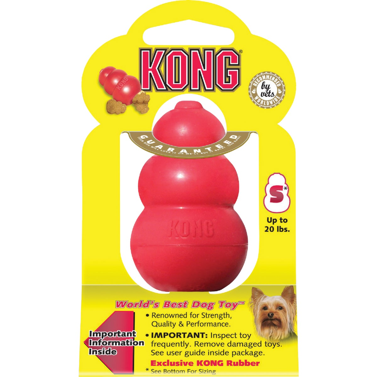 SMALL RED KONG DOG TOY - T3MTXR3 by Kong Company