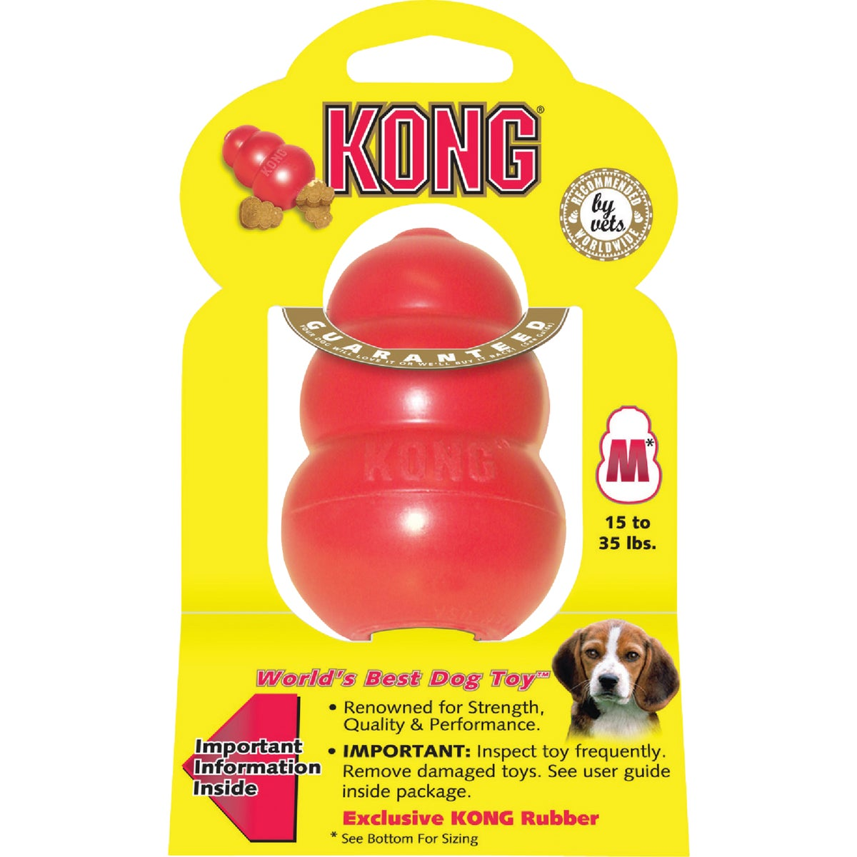 MEDIUM RED KONG DOG TOY - T2MTXR1 by Kong Company