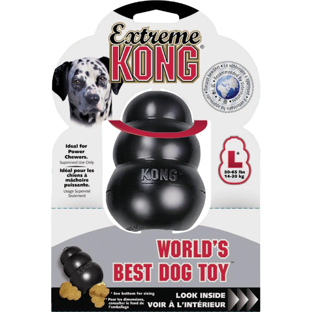 LRG BLACK KONG DOG TOY