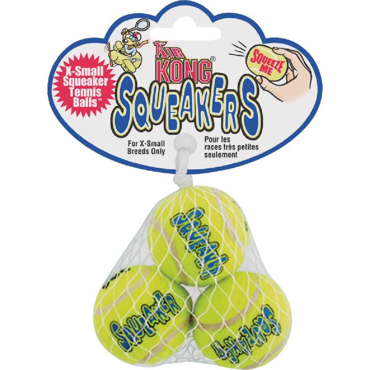 KONG Air KONG Air SqueakAIR Balls Dog Toy, Extra Small, Yellow, 3/pack