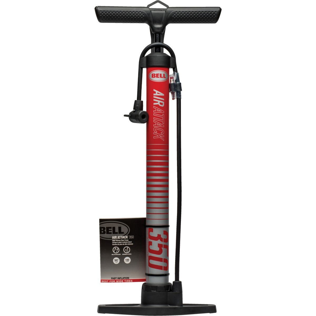 100PSI FLOOR PUMP - 7015728 by Bell Sports