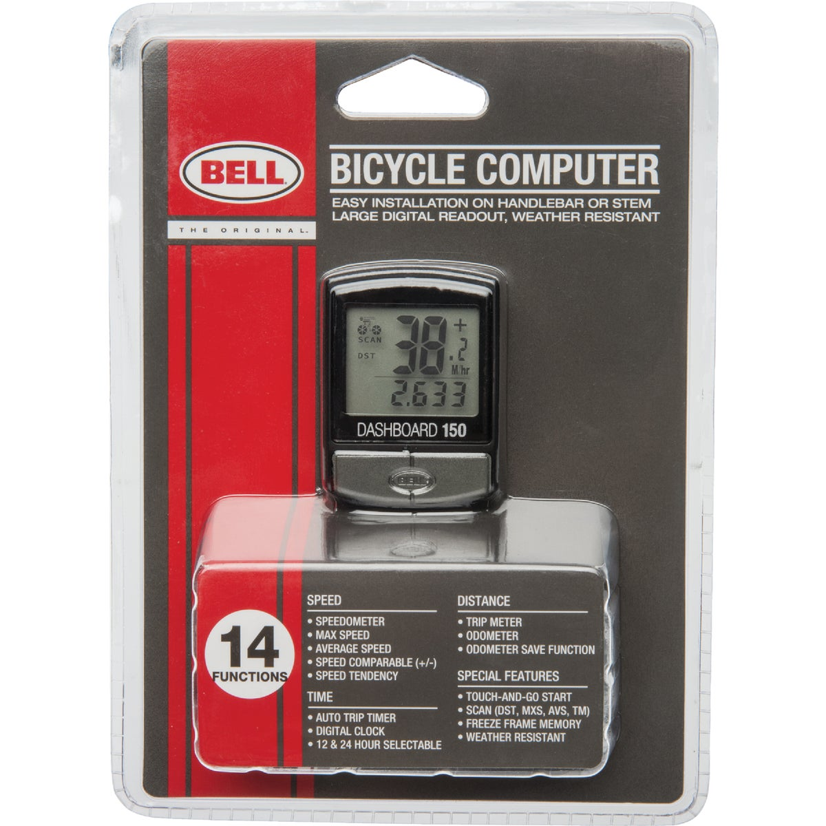 12FUNCTION BIKE COMPUTER - 7001115 by Bell Sports