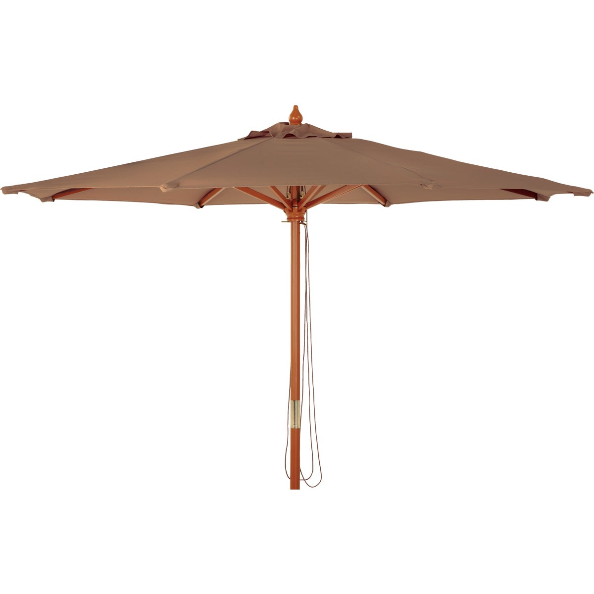 9' MARKET BROWN UMBRELLA - TJWU-003A-270-BRN by Do it Best