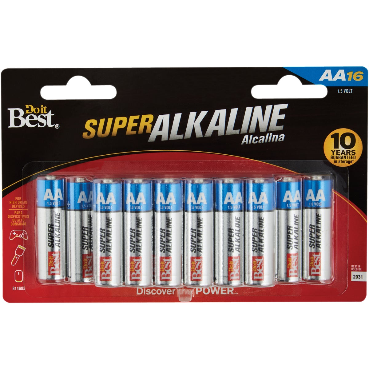 16PK DIB AA ALK BATTERY