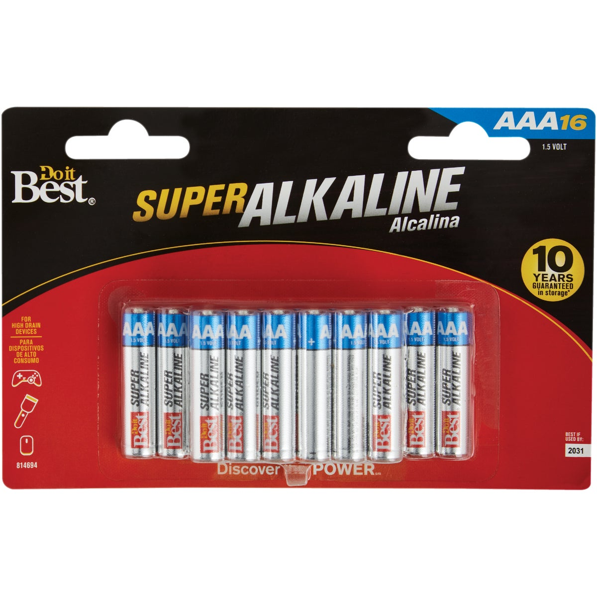 16PK DIB AAA ALK BATTERY - DIB824-16 by Ray O Vac