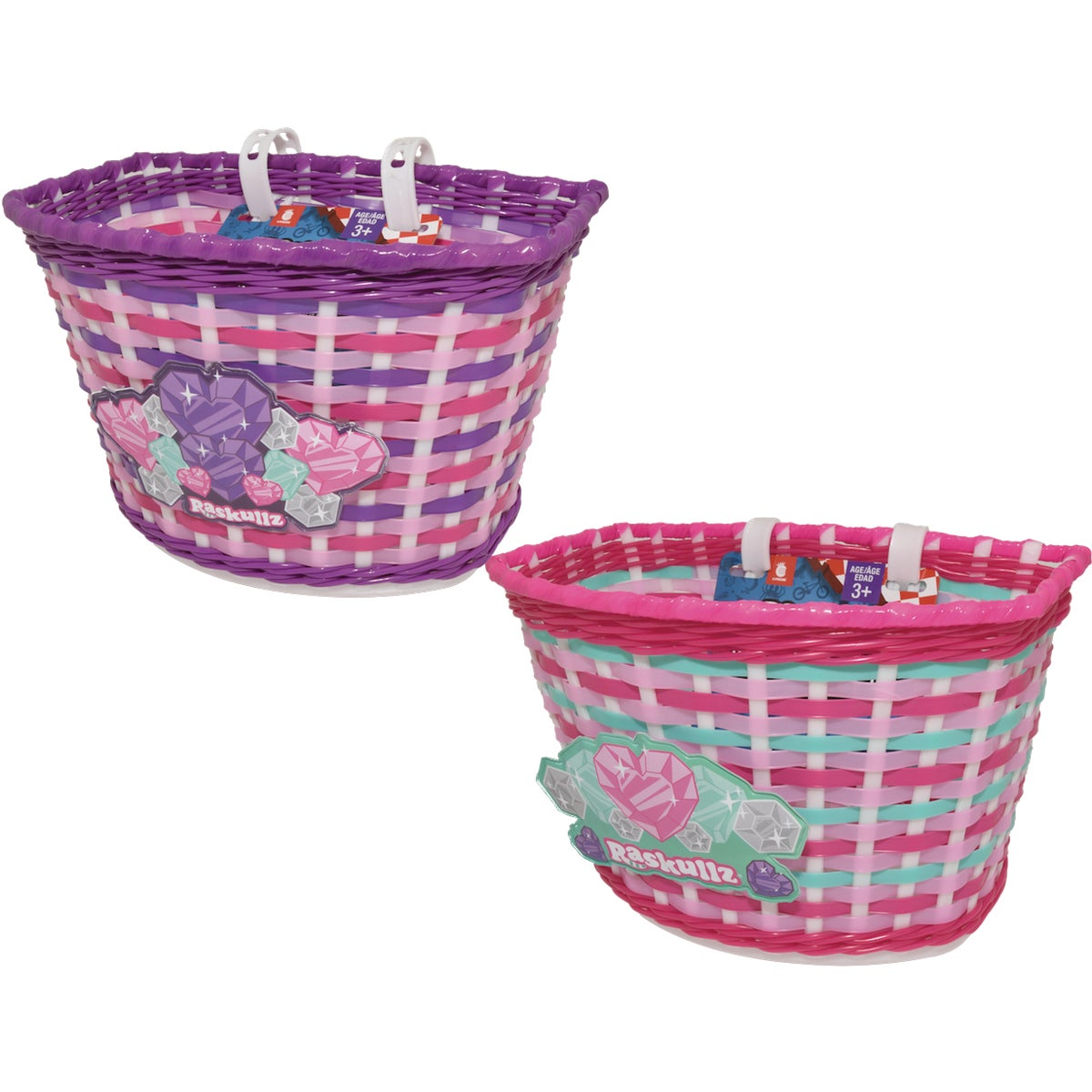 GLITTRGIRL HANDLE BASKET - 8003375 by Bell Sports